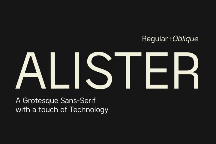 Alister - Modern Sans Serif