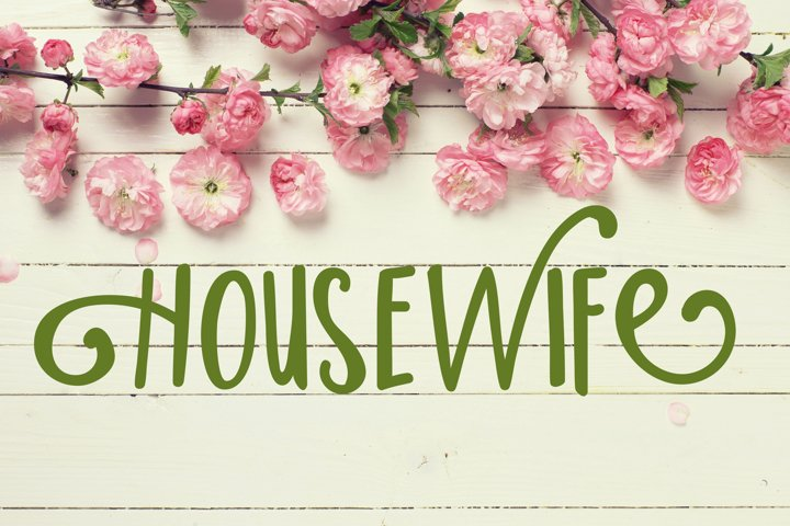 PN Housewife - Free Font of The Week Font
