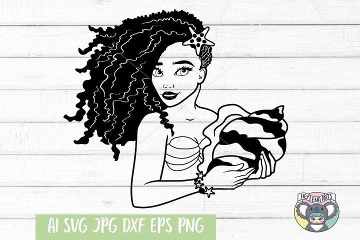 Mermaid svg, Black Woman svg, dxf, Cricut Cut Files, png