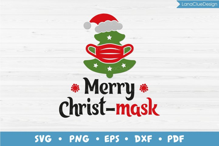 Merry Christmask, Funny Quarantine Christmas SVG PNG DXF EPS