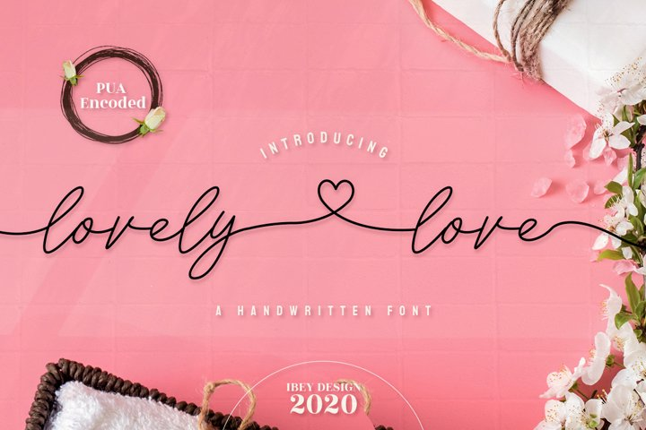 Lovely Love - Font with Swash