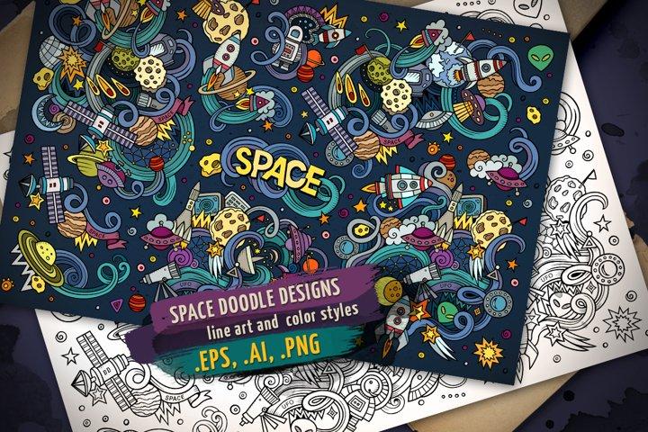 Space Doodle Designs Set