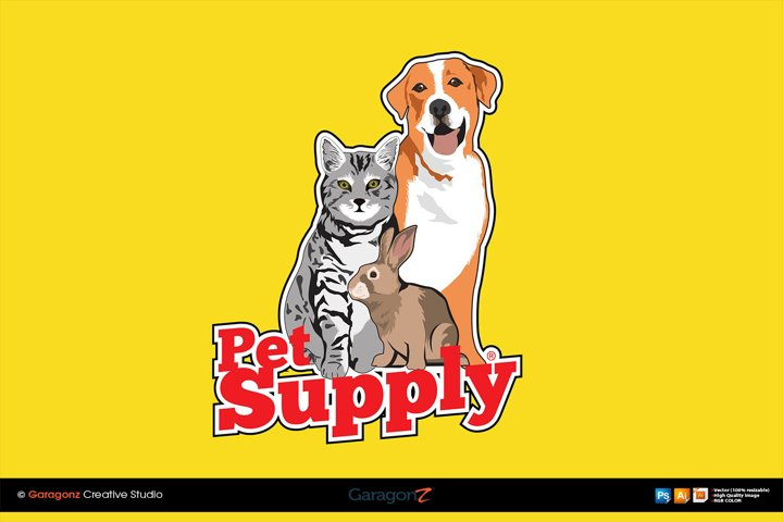 Pet Supply vector template