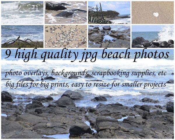 9 Colour Beach Photos example