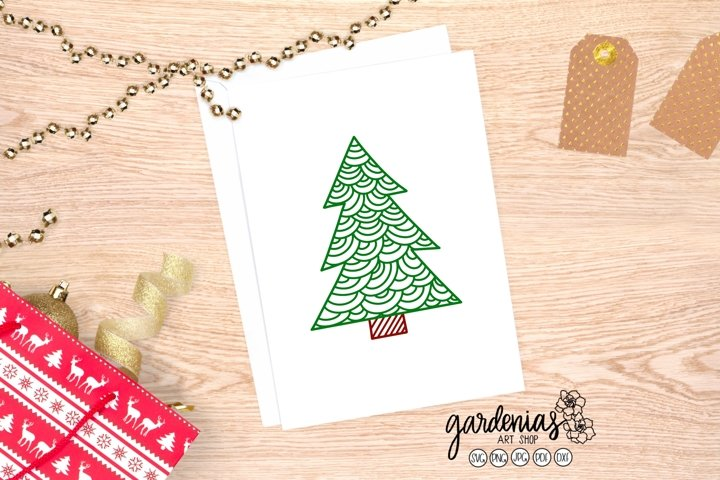 Christmas Tree SVG | Tree Scale Design | Christmas Clip Art