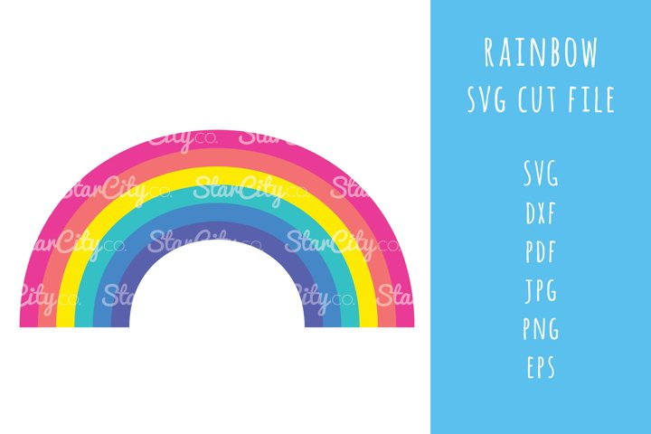 Rainbow SVG cut File, Rainbow cutting file, rainbow cut file