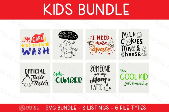 Kids Bundle - SVG BUNDLE - Childrens SVG Fun Digital Designs