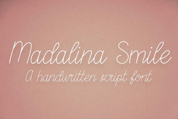 Madalina Smile - a monoline handwritten script font