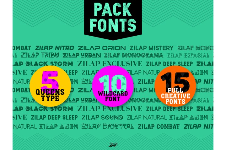 Zilap Wildcard 10 fontpack