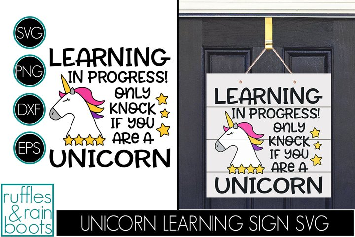Unicorn Online Learning Door Sign - E-Learning Unicorn Sign