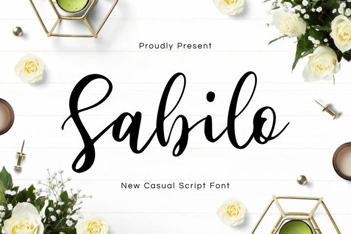Sabilo Script Font