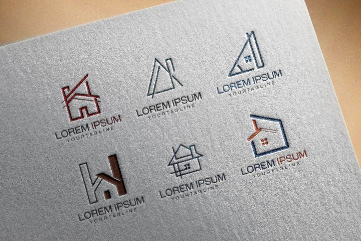 6 House Architecture Real Estate Logo