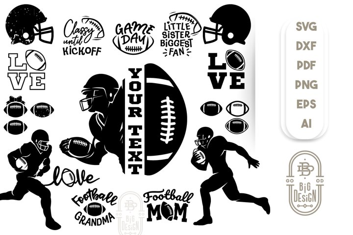 Football Bundle SVG - 22 American Football SVGs