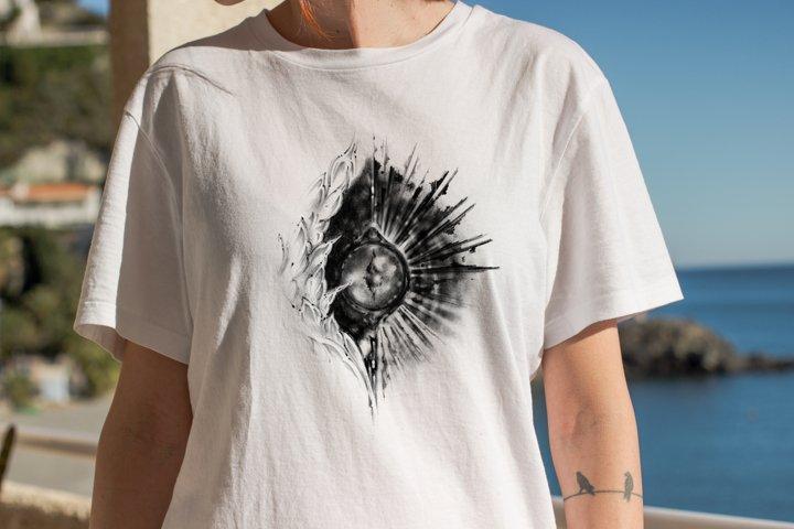 Sublimation eye design T-shirt digital illustration