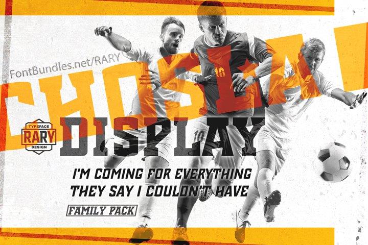 Chosla | Sports font family bundle.