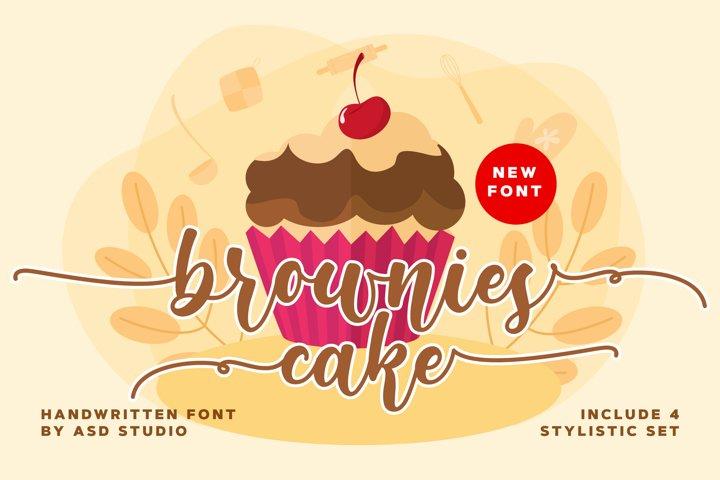 Brownies Cake - Handwritten Font