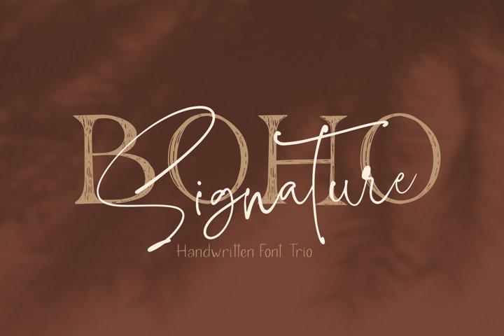 Boho Signature Handwritten Font Trio