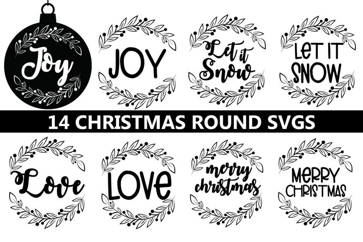 Christmas round svgs, Christmas ornaments round svgs