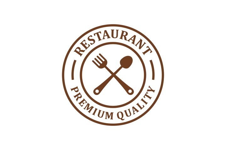 Restaurant logo - food drink product, spoon fork icon