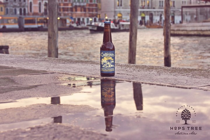 Street Reflection Beer Mockup