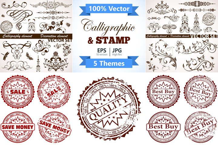 Calligraphic and Stamp Themes