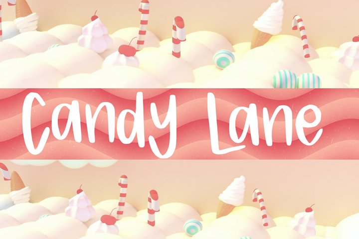 Candy Lane Font example