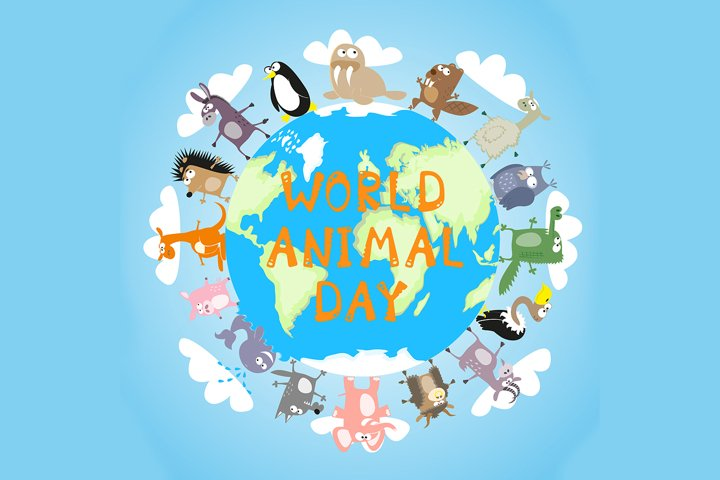 Banner: World animal day -1. Vector illustration