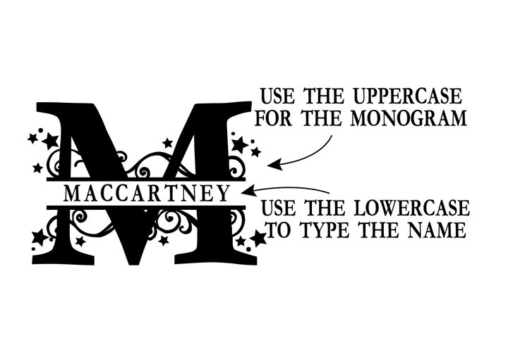 PN Stars & Swirls Monogram Banner Font - Free Font of The Week Design2