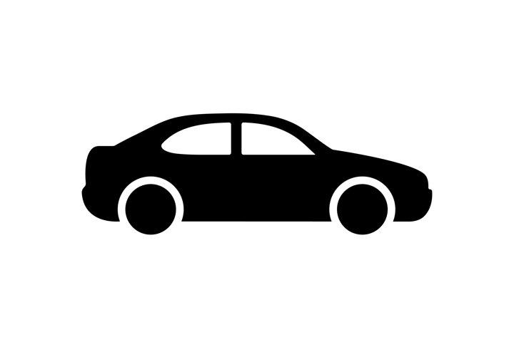 Car icon vector illustration. Passenger car symbol