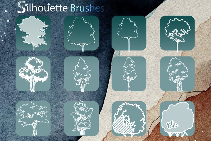 Silhouette Tree Brushes