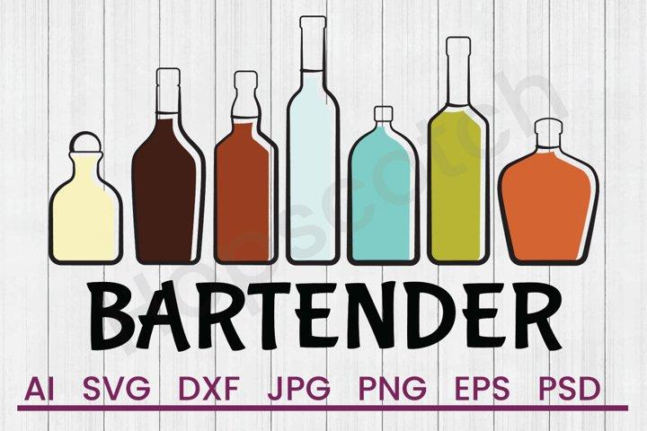 Liquor Bottles SVG, Bartender SVG, DXF File, Cuttatable File