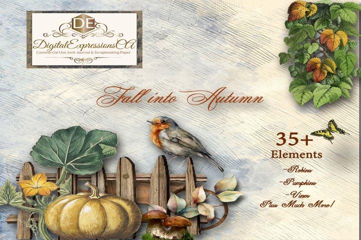 Fall into Autumn 35 Vibrant Digital Embellishments Graphics