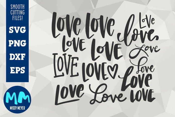 Hand-Lettered Love - a dozen loves for your Valentine!