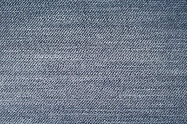 Blue denim background. Texture and pattern of jeans fabric