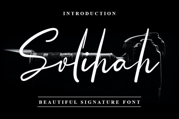 Solihah - Beautiful Signature Font