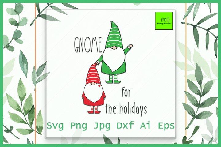 Gnome svg, Gnome holidays, Holidays svg, Christmas, SVG