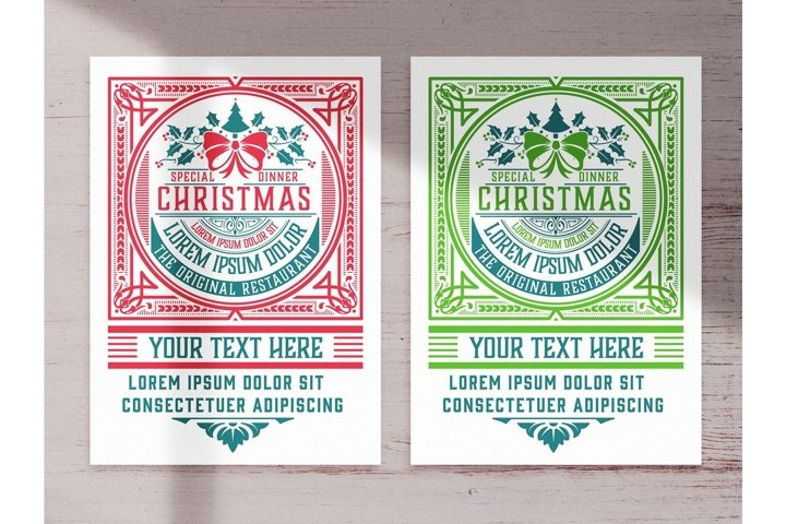 Christmas Event Graphic Flyer Layout