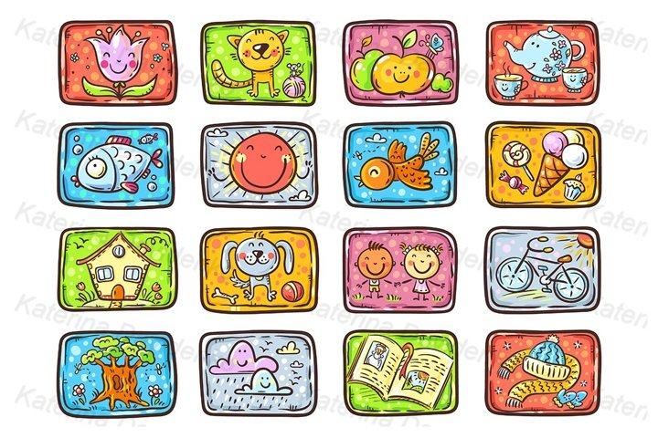 Cards for tasks or games for kids
