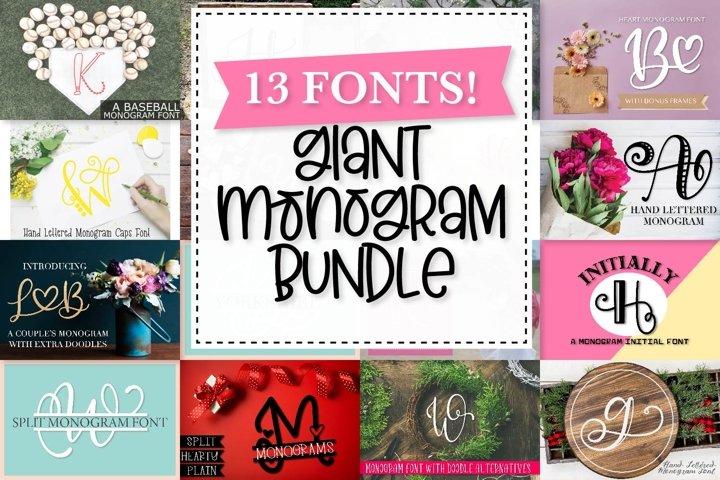 Big Monogram Bundle - 10 of my Best Selling Monogram Packs!