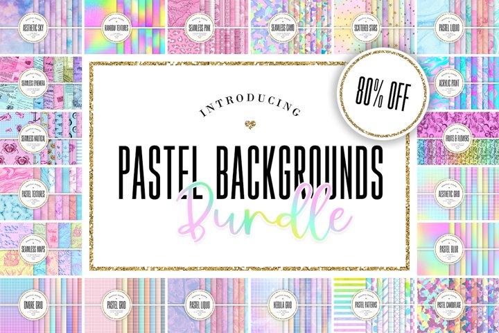 Pastel Digital Paper BUNDLE - 242 Backgrounds