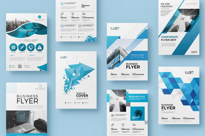 20 Business Flyer Bundle - Double Sided