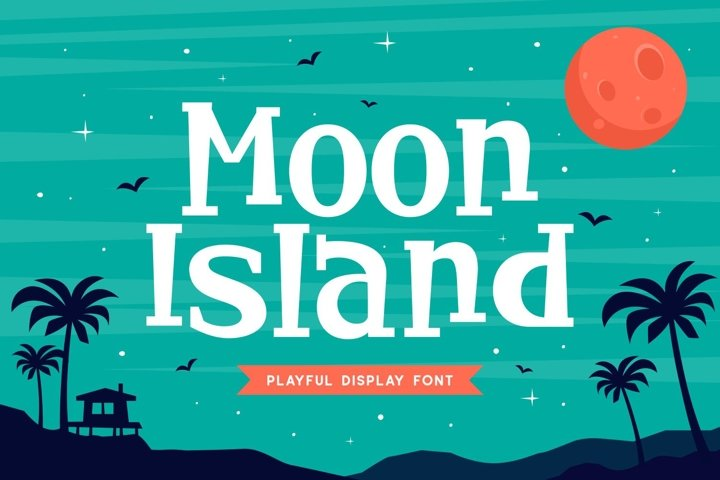 Moon Island - Playful Display Font