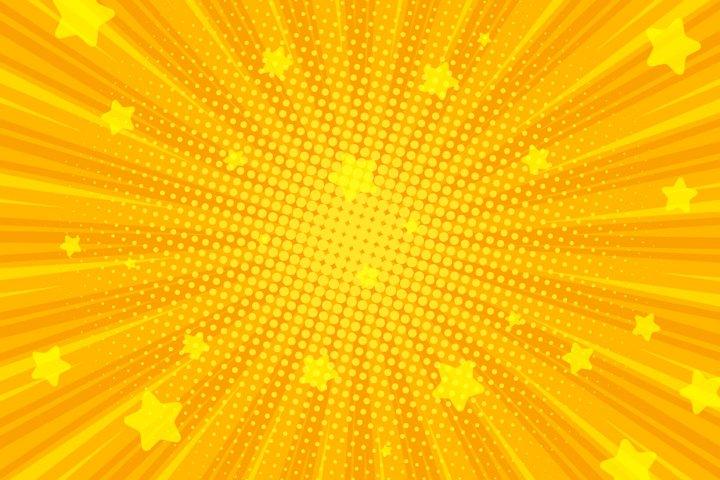 Retro Comic Background, Pop Art Radial Rays