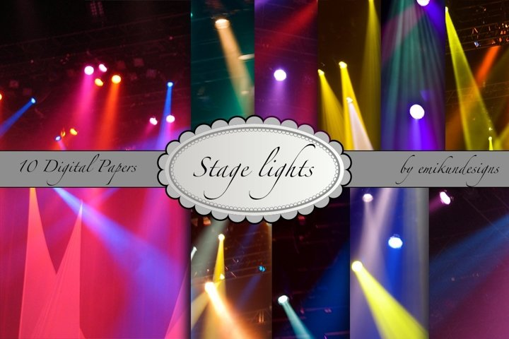 Concert stage lights collection