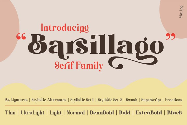 Barsillago Srif Display Family