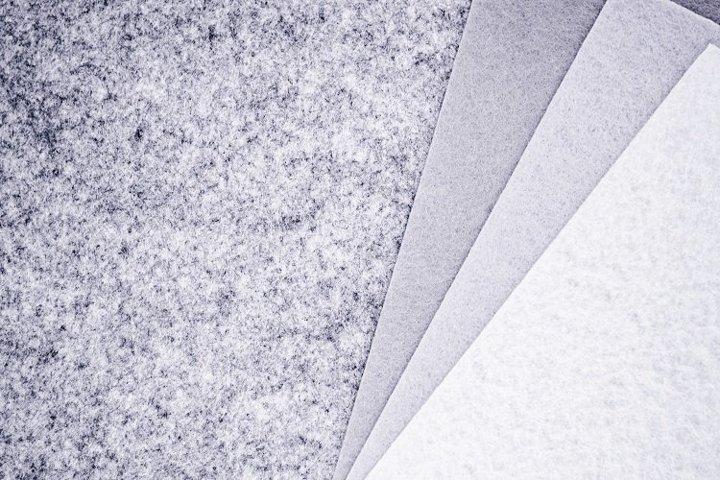 Pieces of grey felt - 9