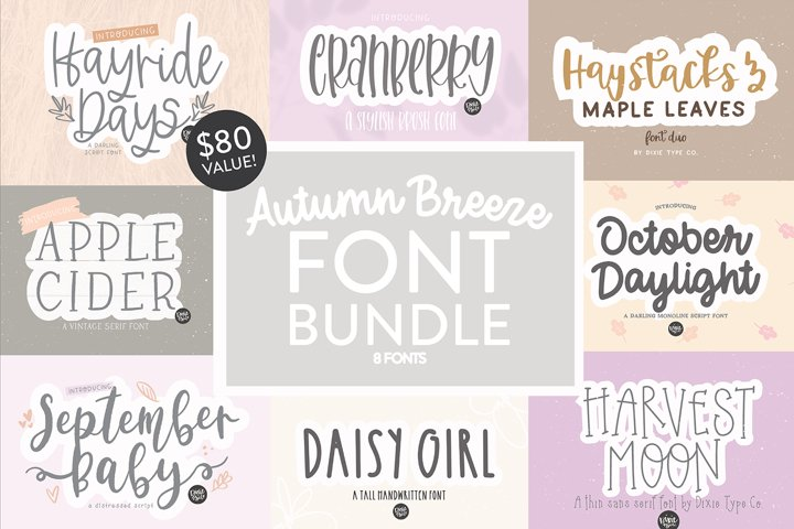 AUTUMN BREEZE FONT BUNDLE
