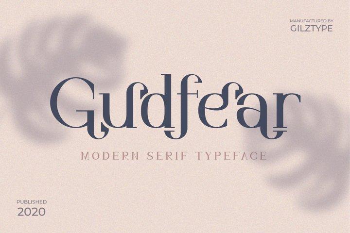 Gudfear - Modern Serif Font