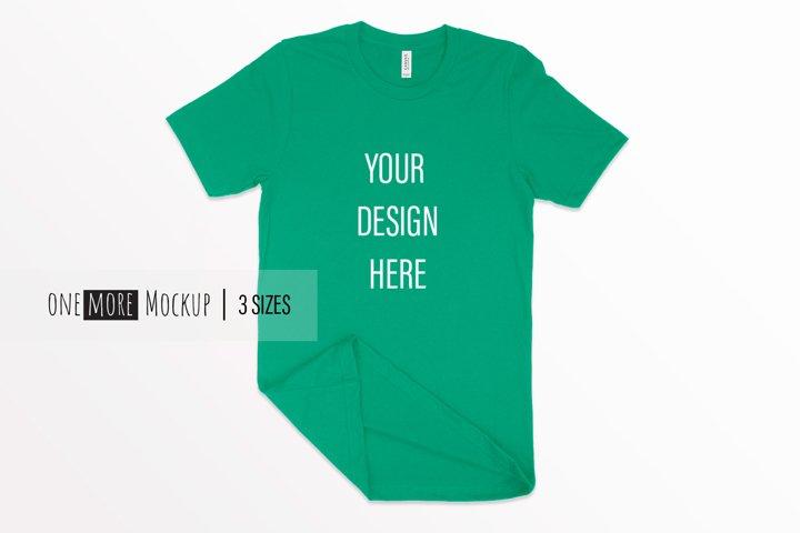 Unisex Tshirt Mockup | Bella Canvas 3001 Kelly Green Mockup