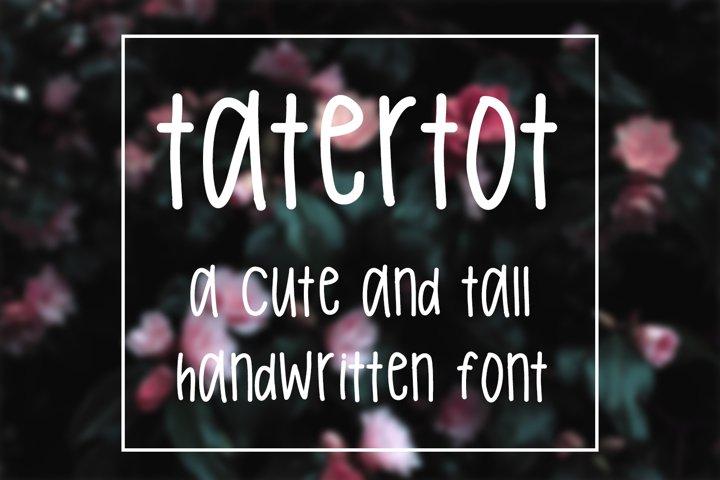 Tatertot - Tall Handwritten Font